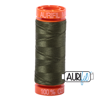 Aurifil ~ 50 wt Cotton ~ 5023 ~ Medium Green Small Spool