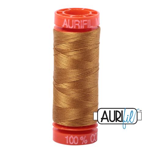 Aurifil ~ 50 wt Cotton ~ 2975 ~ Brass Small Spool
