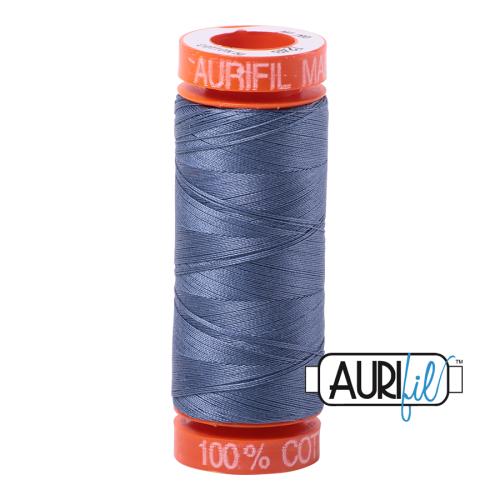 Aurifil ~ 50 wt Cotton ~ 1248 ~ Dark Grey Blue Small Spool