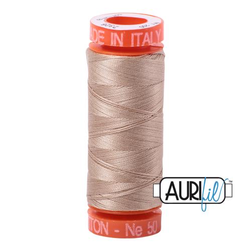 Aurifil ~ 50 wt Cotton ~ 2326 ~ Sand Small Spool