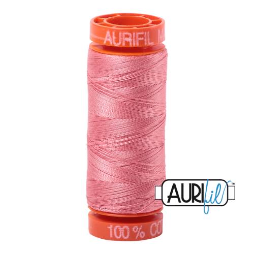 Aurifil ~ 50 wt Cotton ~ 2435 ~ Peachy Pink Small Spool