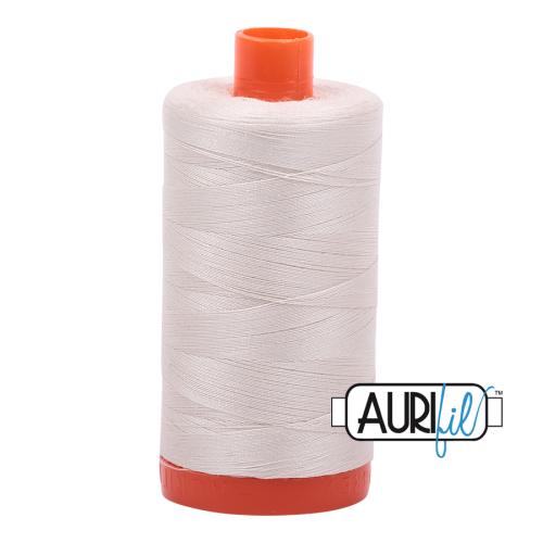 Aurifil ~ 50 wt Cotton ~ 2309 ~ Silver White Large Spool