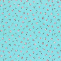 Lecien Fabric ~ Old New 30's 2017 ~ Buds Aqua
