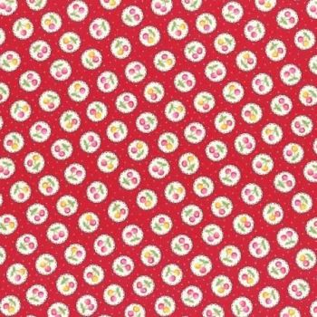 Lecien Fabric ~ Old New 30's 2017 ~ Cherries Red