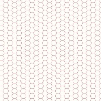 Riley Blake Fabric ~ Bee Backgrounds ~ Honeycomb Red