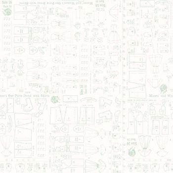 Riley Blake Fabric ~ Bee Backgrounds ~ Pattern Mint