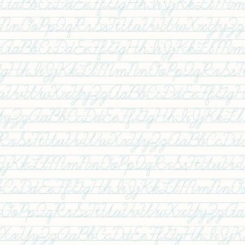 Riley Blake Fabric ~ Bee Backgrounds ~ Penmanship Aqua
