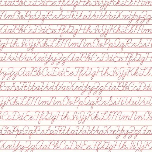 Riley Blake Fabric ~ Bee Backgrounds ~ Penmanship Red