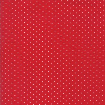 Moda Fabrics ~ Sugar Plum Christmas ~ Christmas Dot Candy Red