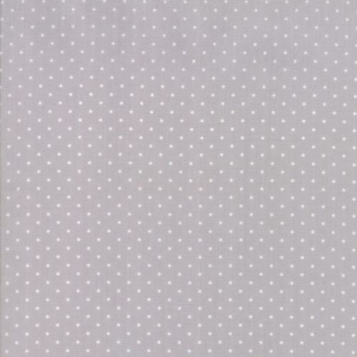 Moda Fabrics ~ Sugar Plum Christmas ~ Christmas Dot Mouse Grey
