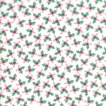 Moda Fabrics ~ Sugar Plum Christmas ~ Holly Icicle White
