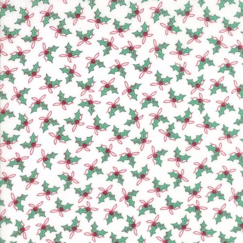 Moda Fabrics ~ Sugar Plum Christmas ~ Holly Icicle White