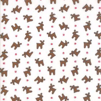 Moda Fabrics ~ Sugar Plum Christmas ~ Reindeer Paws Icicle White