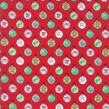 Moda Fabrics ~ Sugar Plum Christmas ~ Shiny Brites Candy Red
