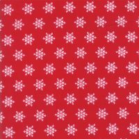 Moda Fabrics ~ Sugar Plum Christmas ~ Snowflakes Candy Red
