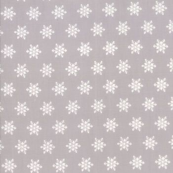 Moda Fabrics ~ Sugar Plum Christmas ~ Snowflakes Mouse Grey