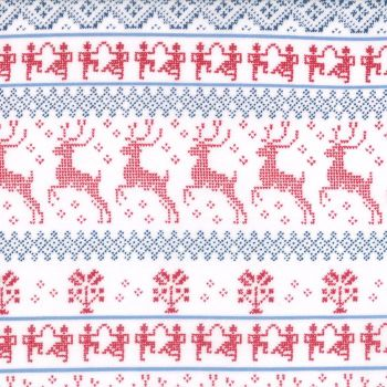 Moda Fabrics ~ Nordic Stitches ~ Knit Stripe on Snow