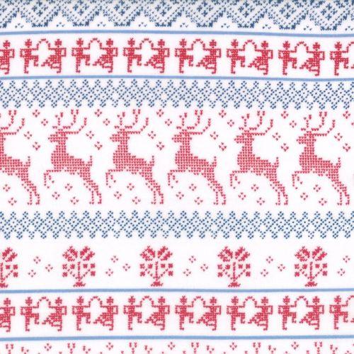 Moda Fabrics ~ Nordic Stitches ~ Knit Stripe on Snow