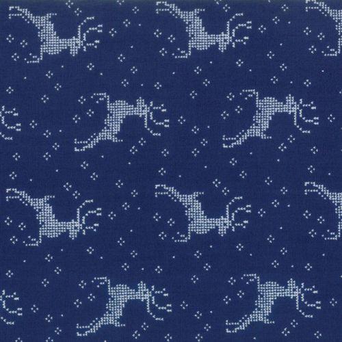 Moda Fabrics ~ Nordic Stitches ~ Reindeer Blue