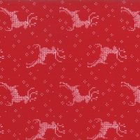 Moda Fabrics ~ Nordic Stitches ~ Reindeer Red