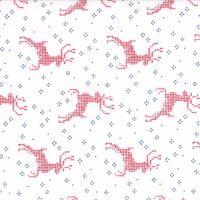 Moda Fabrics ~ Nordic Stitches ~ Reindeer Red on Snow