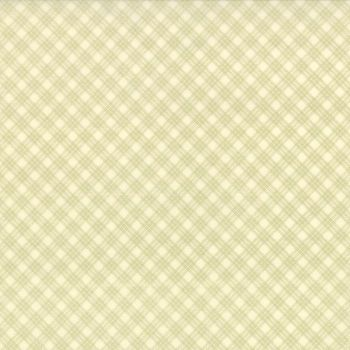Moda Fabrics ~ Snowfall ~ Bias Plaid Green on Snow