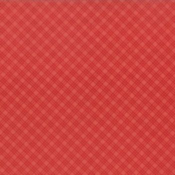 Moda Fabrics ~ Snowfall ~ Bias Plaid Red