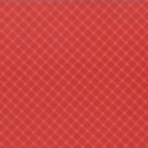 Moda Fabrics ~ Snowfall ~ Bias Plaid Red