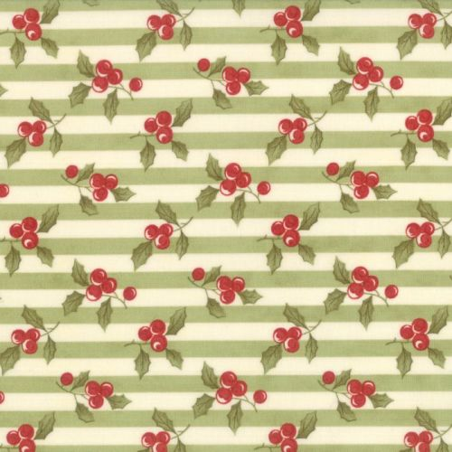 Moda Fabrics ~ Snowfall ~ Garland Stripe Green