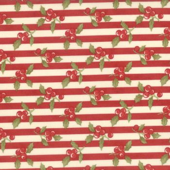 Moda Fabrics ~ Snowfall ~ Garland Stripe Red