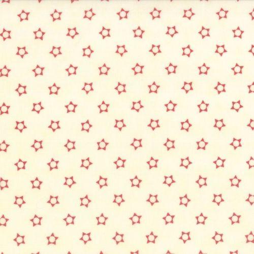 Moda Fabrics ~ Snowfall ~ Stars Red on Snow