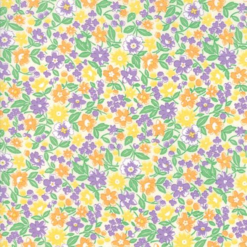 Moda Fabric ~ 30's Playtime 2017 ~ Bloomin' Bouquet Lavender and Cotton