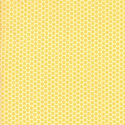 Moda Fabric ~ 30's Playtime 2017 ~ Kerchief Dot Buttercup