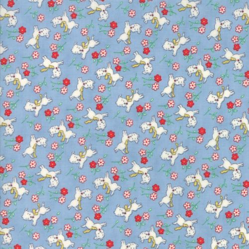 Moda Fabric ~ 30's Playtime 2017 ~ Perky Pups Sky