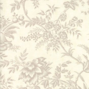 Moda Fabrics ~ Snowberry ~ Floral Toile Snow