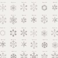 Art Gallery Fabrics ~ Little Town ~ Snow Crystals Ash