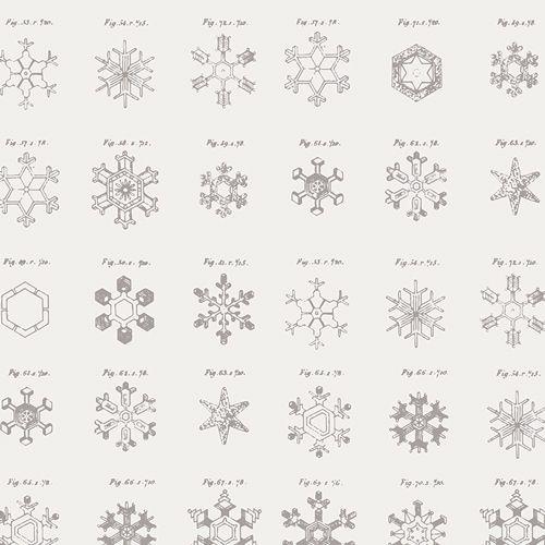 Art Gallery Fabrics ~ Little Town ~ Snow Crystals Ash