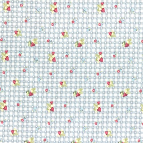 Lecien Fabric ~ La Conner ~ Berry Dot Gingham in Blueberry