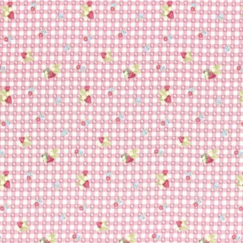 Lecien Fabric ~ La Conner ~ Berry Dot Gingham in Peony