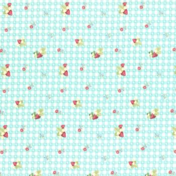 Lecien Fabric ~ La Conner ~ Berry Dot Gingham in Rain