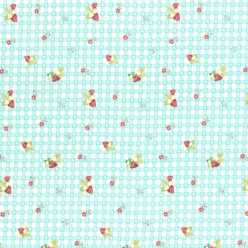 Lecien Fabric ~ La Conner ~ Berry Dot Gingham in Rain
