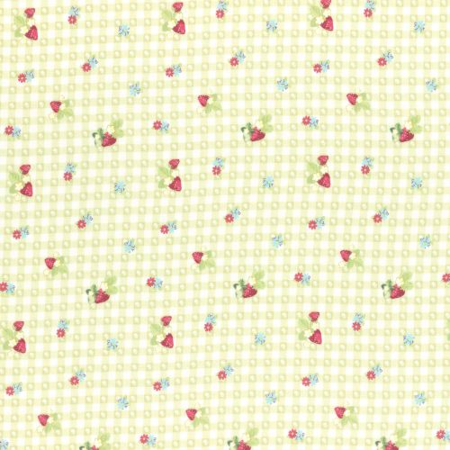 Lecien Fabric ~ La Conner ~ Berry Dot Gingham in Sage