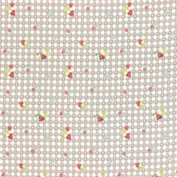 Lecien Fabric ~ La Conner ~ Berry Dot Gingham in Wicker