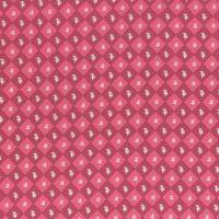 Lecien Fabric ~ La Conner ~ Floral Square in Cranberry