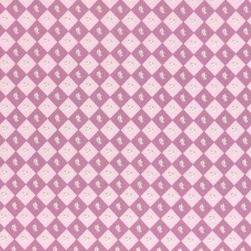 Lecien Fabric ~ La Conner ~ Floral Square in Peony