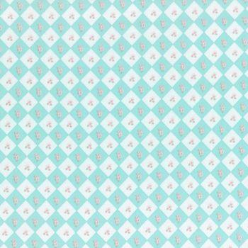 Lecien Fabric ~ La Conner ~ Floral Square in Rain