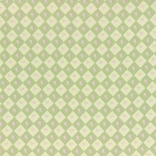 Lecien Fabric ~ La Conner ~ Floral Square in Sage