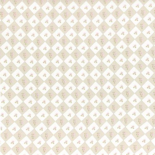 Lecien Fabric ~ La Conner ~ Floral Square in Wicker