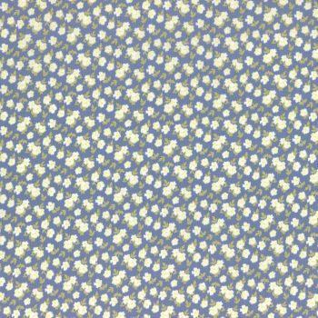 Lecien Fabric ~ La Conner ~ Pansies in Blueberry Metallic