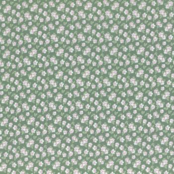 Lecien Fabric ~ La Conner ~ Pansies in Evergreen Metallic